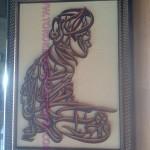 kaligrafi kayu syahadat tahiyyat